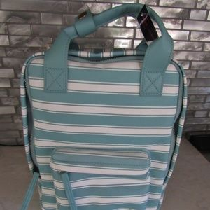 No Boundaries Faux Leather Teal BackPack NWT